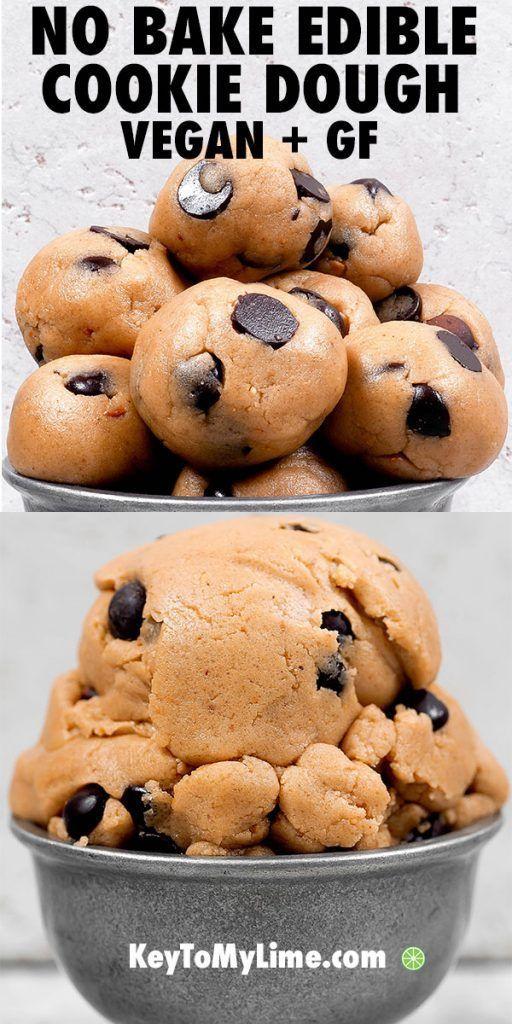 Edible Cookie Dough (Vegan + Gluten Free) - Key To My Lime