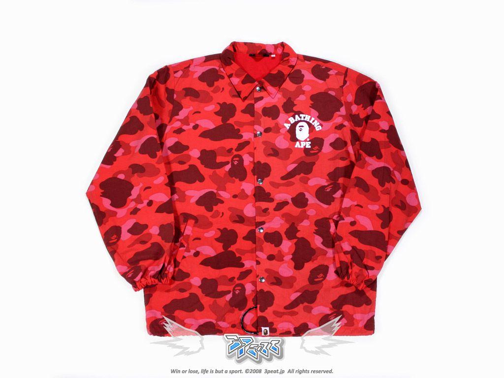 A Bathing Ape Red Camo Shirt
