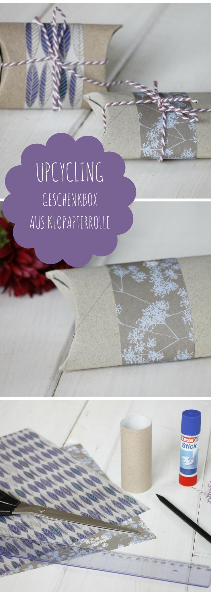 DIY: Kleine Geschenkverpackung aus Klopapierrolle basteln ...