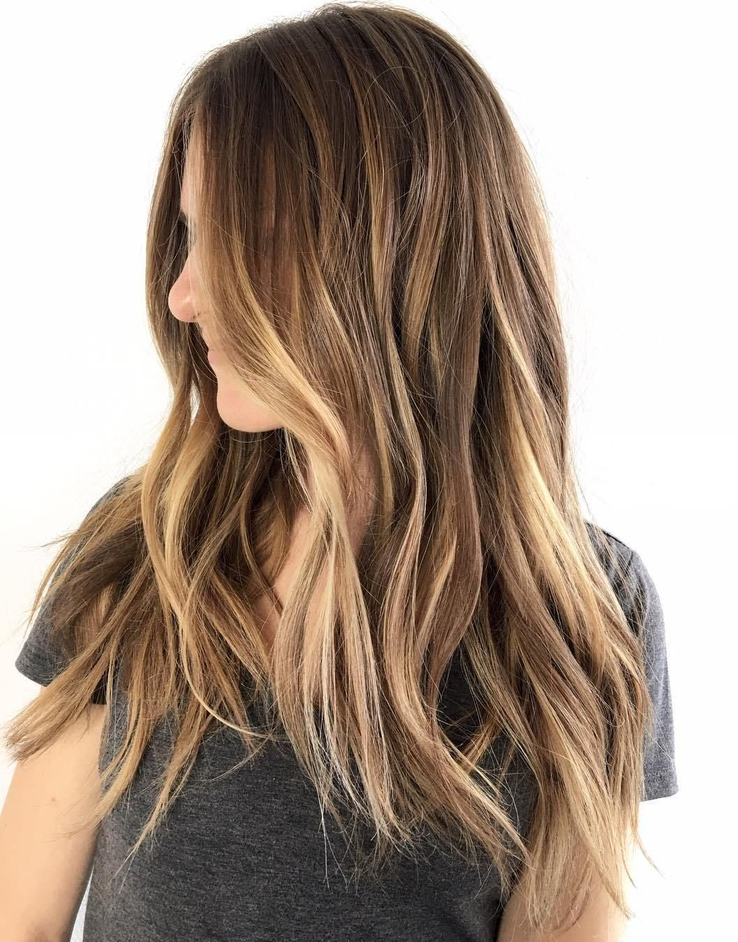 45 ideas for light brown hair with highlights and lowlights | long