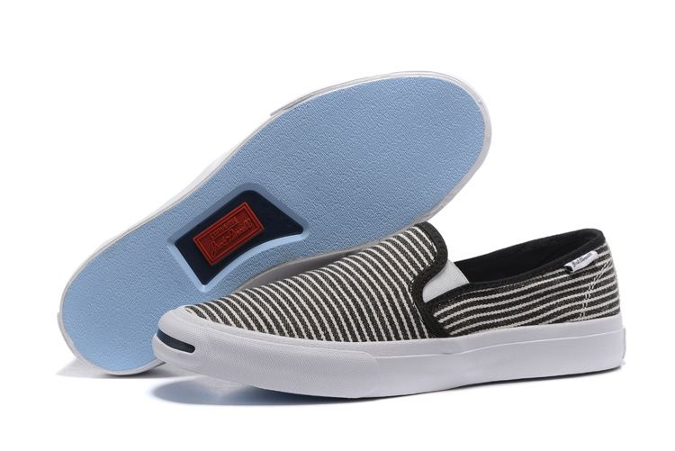 13e3b8f242e2  converse Converse small opening smile stripes a pedal canvas shoes black  strip 148764C 39-4410