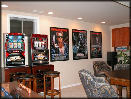 Awesome Working Place Media Room Bar Gallery Frame Movie