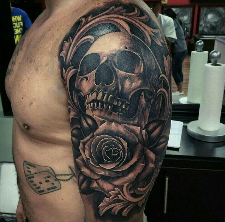 skull and rose tattoos pinterest tattoo tatting and tatoo. Black Bedroom Furniture Sets. Home Design Ideas