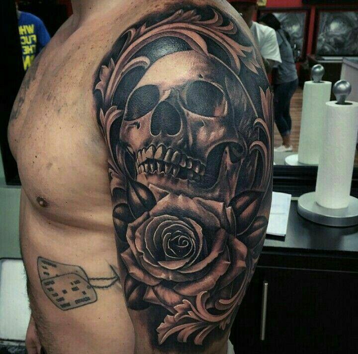 skull and rose tattoos pinterest tattoo tatting and tatoo. Black Bedroom Furniture Sets. Home Design Ideas