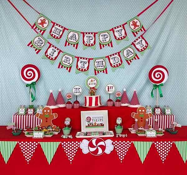Christmas Birthday Image.Candy Christmas Birthday Party Christmas Birthday Party