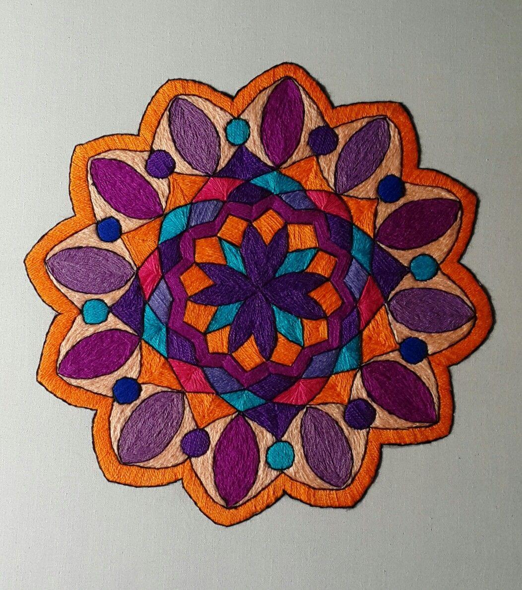 Mandala bordada a mano   Manualidades   Pinterest   Bordado ...