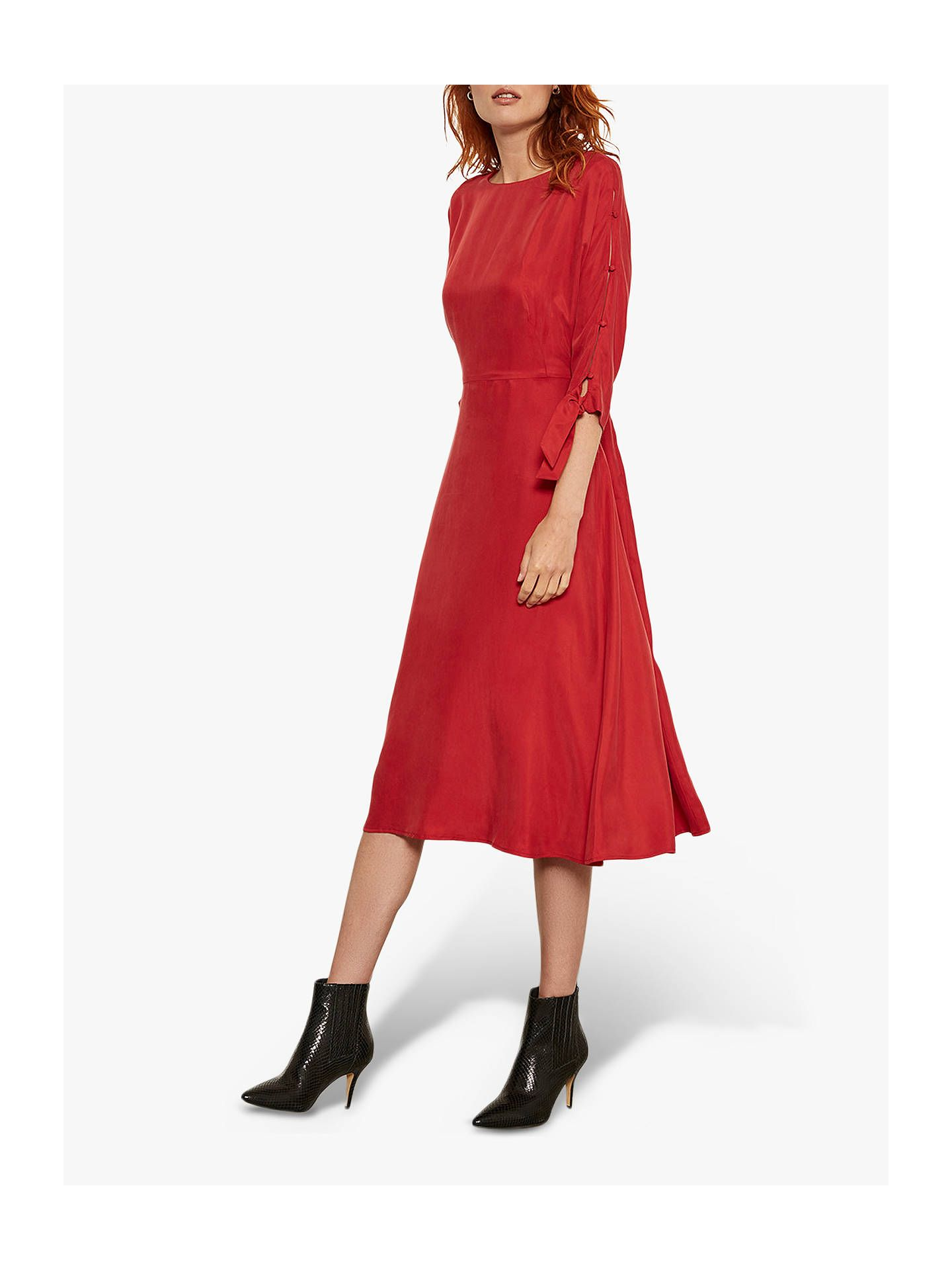 Mint velvet button sleeve midi dress red midi dress