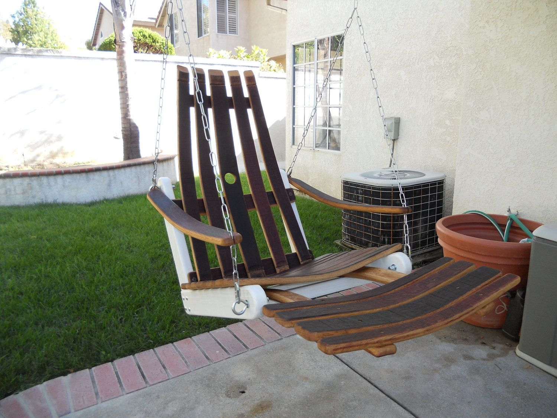 barrel stave adirondack chair plans massage india floating wine swing 400 00