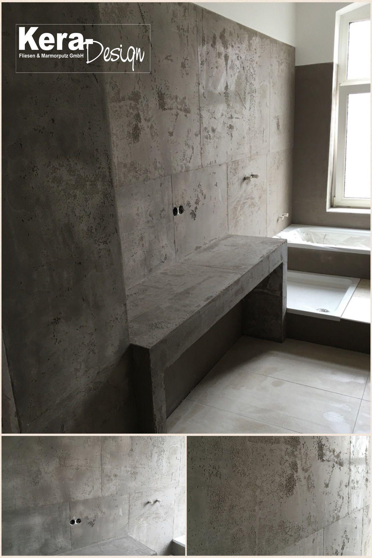 Wandbeschichtung in Betonoptik. #marmorputz #wandbeschichtung #betonoptik #pargahaus #volimea #braunschweig #concrete