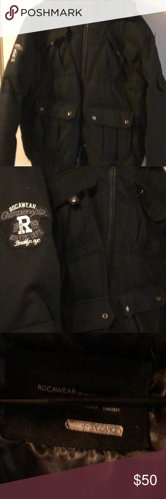 Rocawear Wool Winter Jacket With Hood Sz Xxxl Wool Winter Jacket Jackets Winter Jackets [ 1740 x 580 Pixel ]