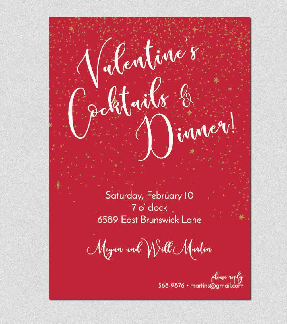 Printable Valentine\'s Invitation, Printable Valentine Dinner ...