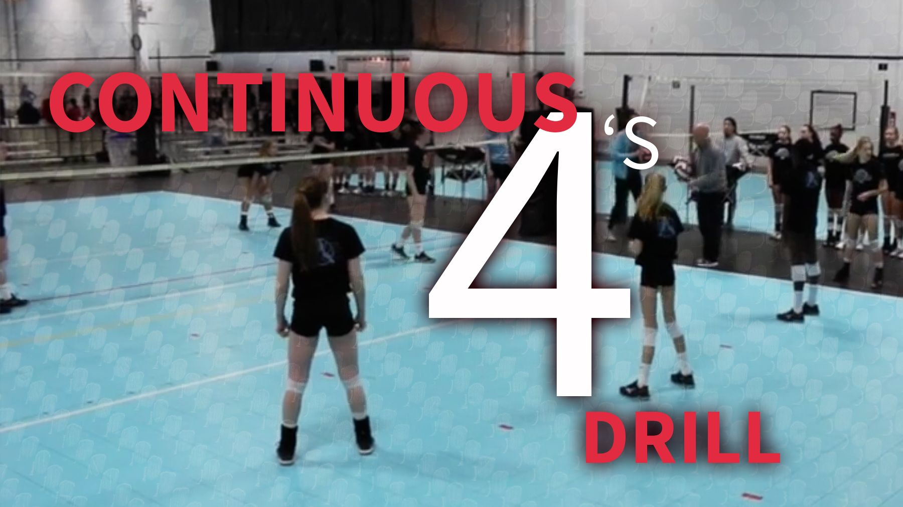Continuous 4 S Volleyball Drill The Art Of Coaching Volleyball Volleyball Practice Volleyball Drills Volleyball Workouts