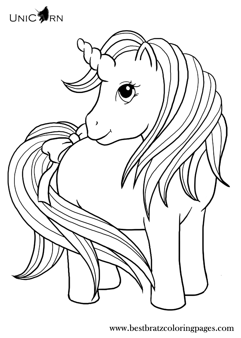 Magical unicorn coloring pages - Unicorn Coloring Pages For Kids Bratz Coloring Pages