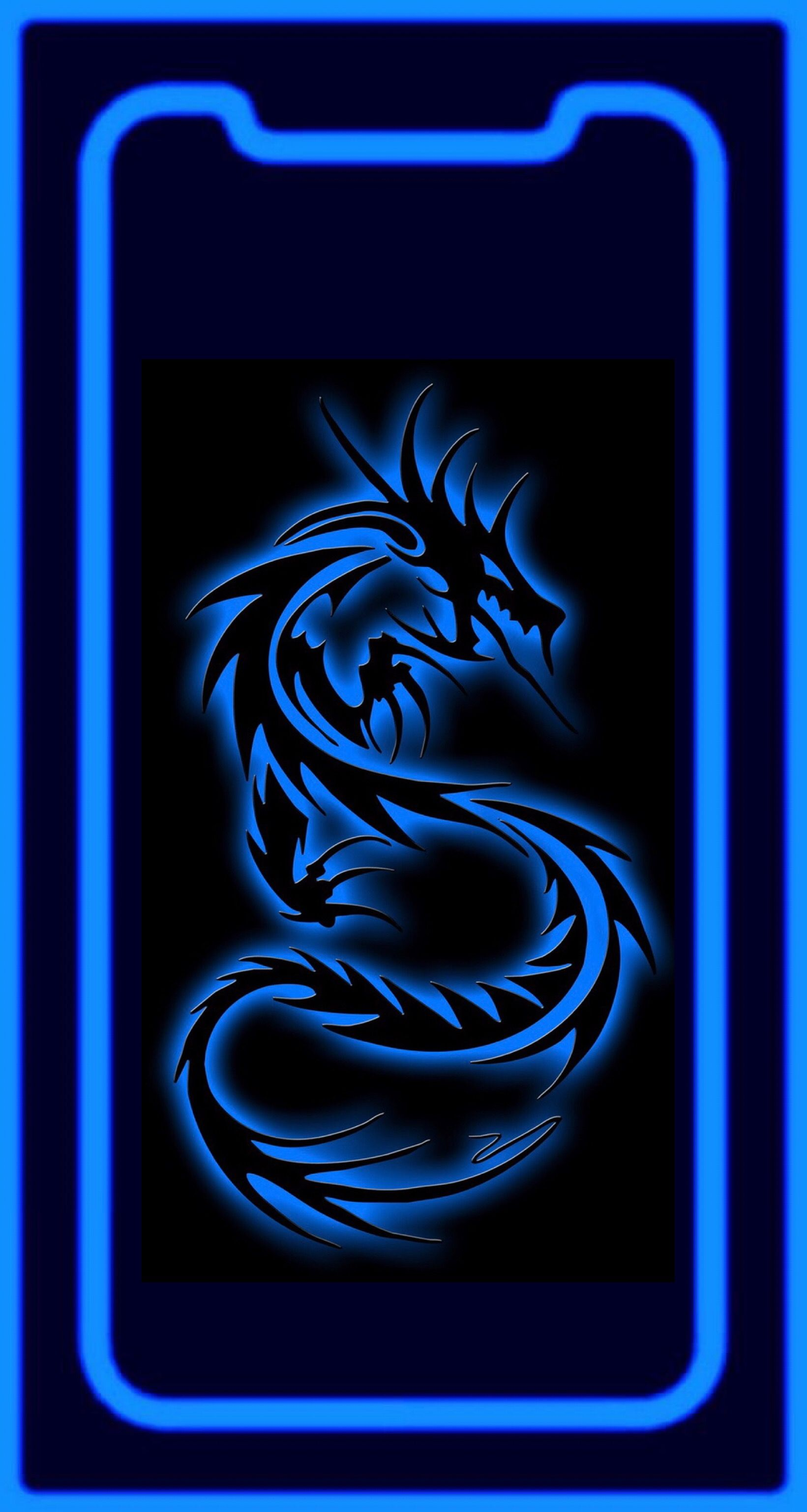 Wallpaper iPhone X Blue Dragon Apple wallpaper iphone