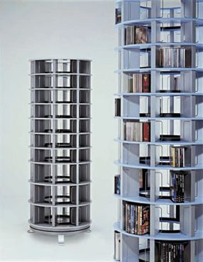 Accessories, Interesting Vismara Revolving Tower Cd Storage Can Hold Lots  Of Cd And Dvd And