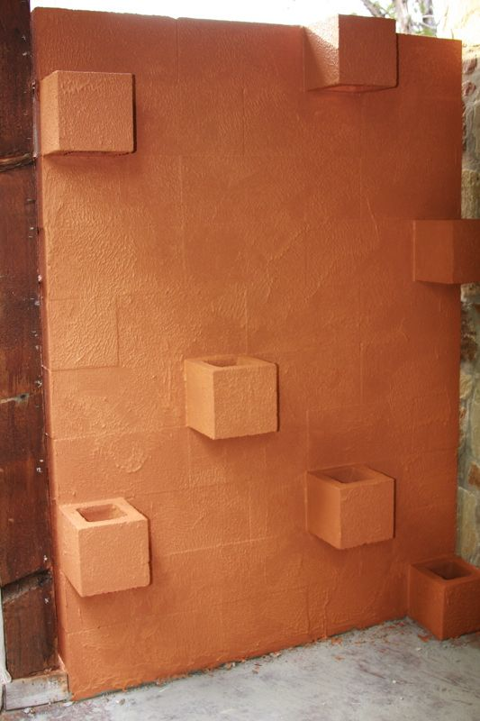 DIY Cement Block Planter Wall For Plants, Candles, Or Mini Table Top  Waterfall.