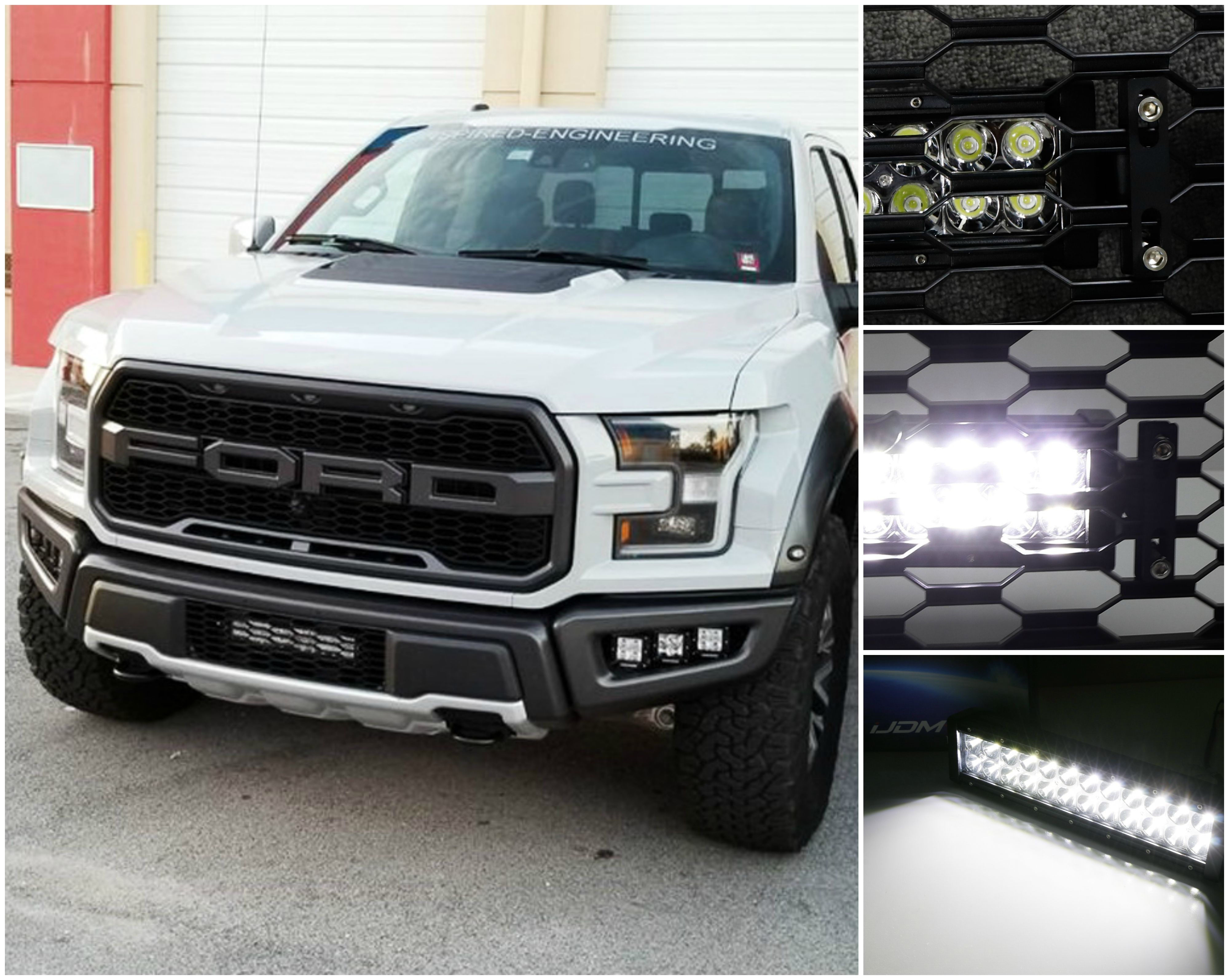 Invisible oem grille mount high power led light bar w behind grille 2017 up ford raptor invisible oem grille mount led light bar aloadofball Choice Image