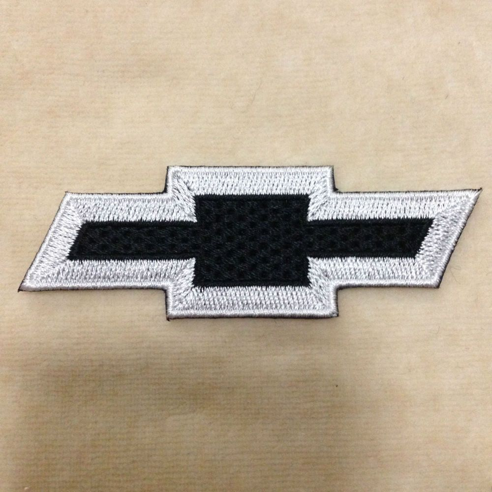 Chevrolet Chevy Car Logo Embroidery Iron On Patch Badge Black