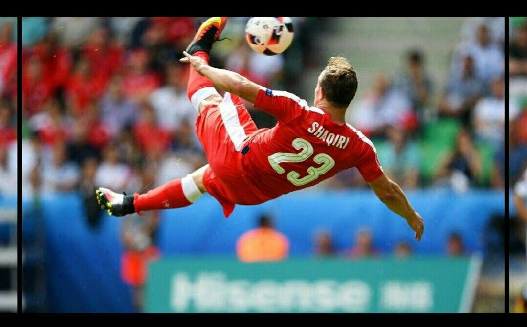 Xherdan Shaqiri Scores The Goal Of The Tournament So Far V Poland Euro 2016 Uefa Euro 2016 Bicycle Kick Liverpool Uefa