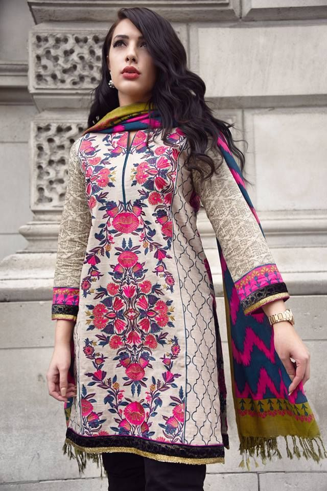 932537292e8e Nimsay Khaddar collection 2016 Embroidered Fabric is a beautiful ...