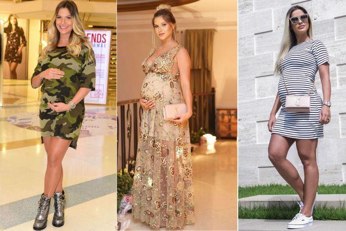 7f04ae123 Moda gestante  os looks usados por Andressa Suita na gravidez ...