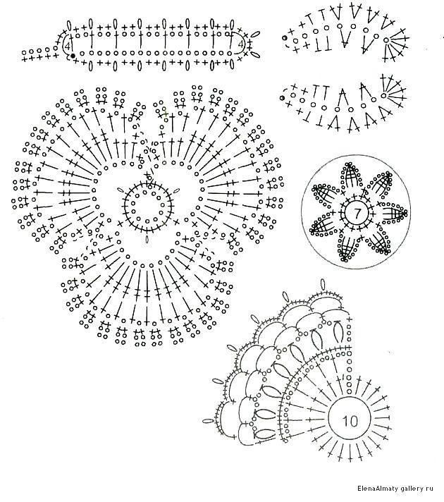 Encaje irlandés: Elements - 9 | Crochet irlandés | Pinterest ...