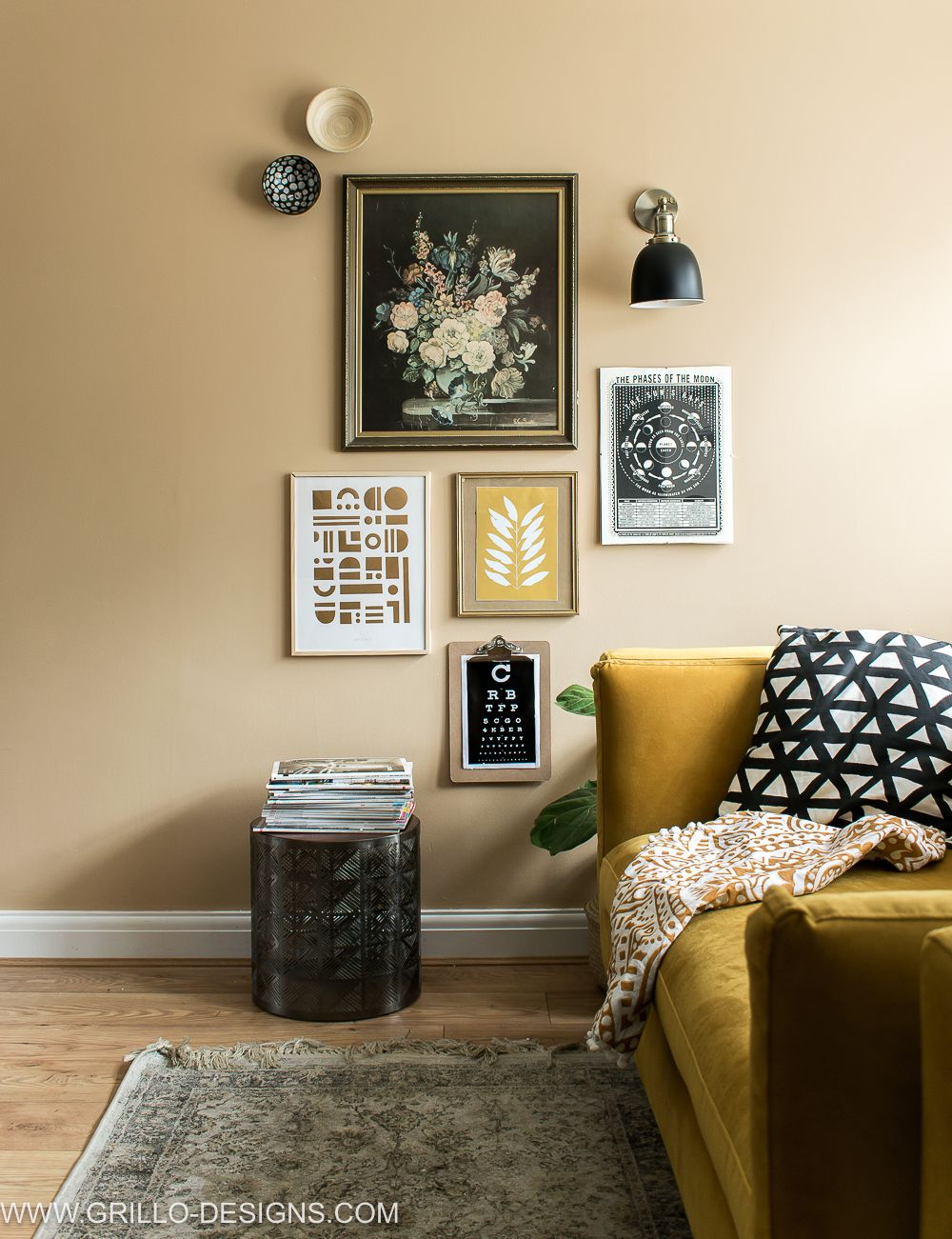 Oct colour story yellow home sweet home pinterest room