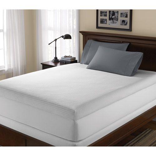 thick memory foam mattress topper Canopy Hypoallergenic 4