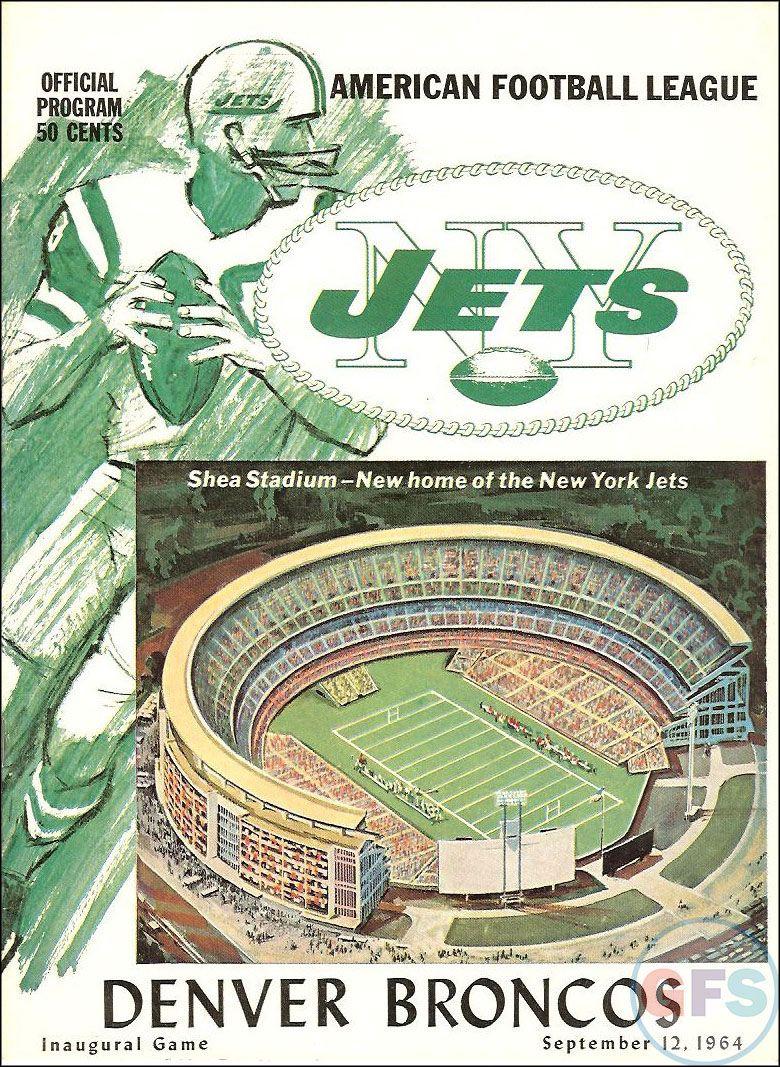 0e8bd940a58 Denver Broncos at New York Jets — September 12, 1964 Shea Stadium ...