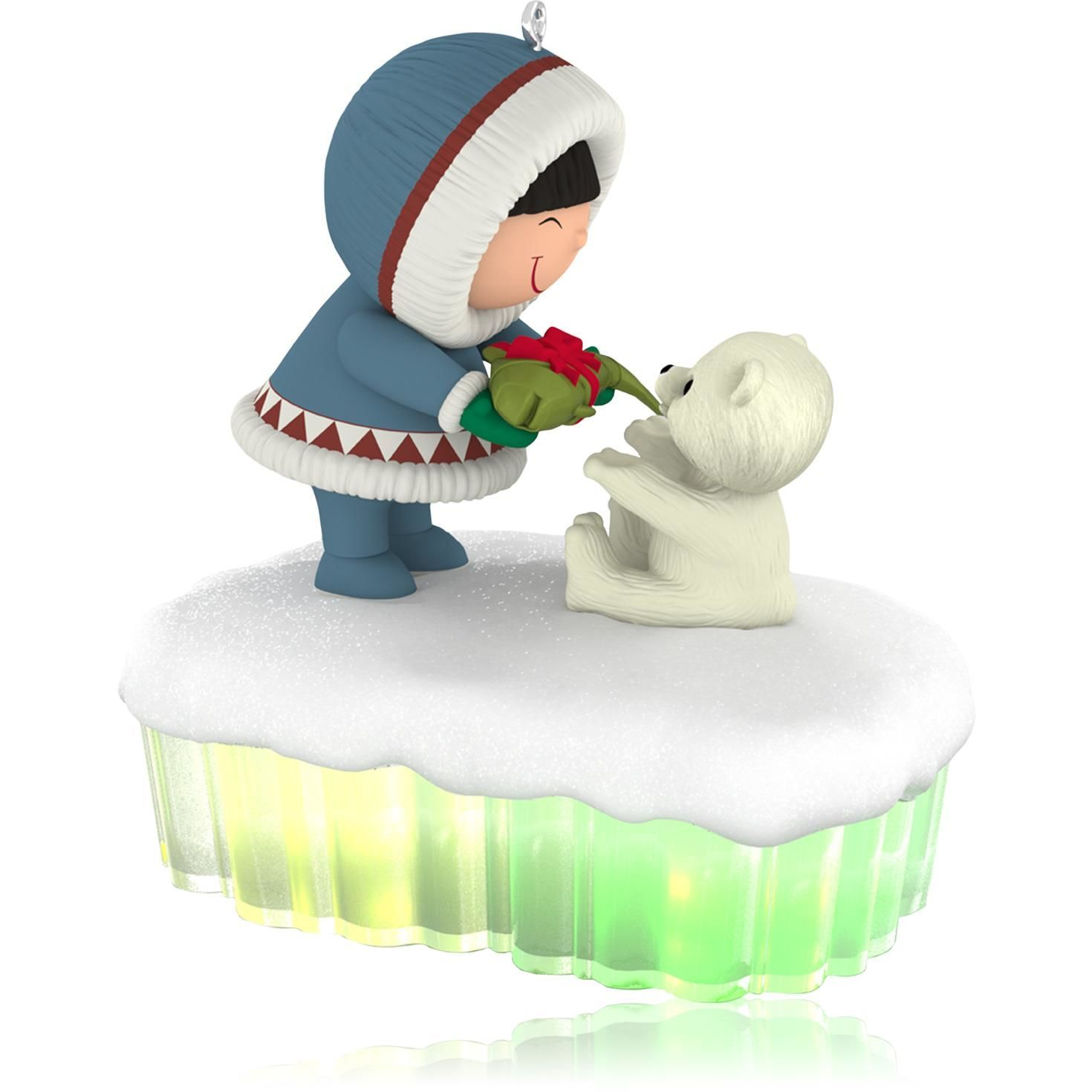Frosty Friends Ice Totem Pole Carving Ornament | Ornament and ...