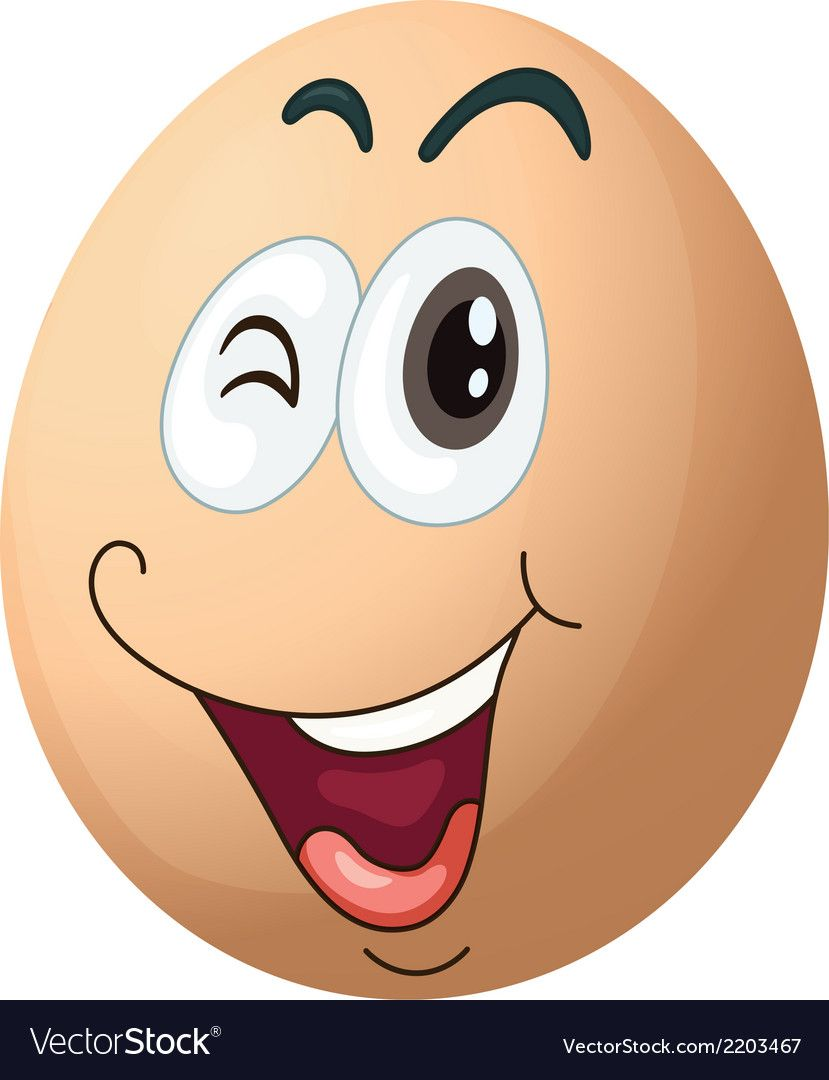 A smiling egg vector image on VectorStock