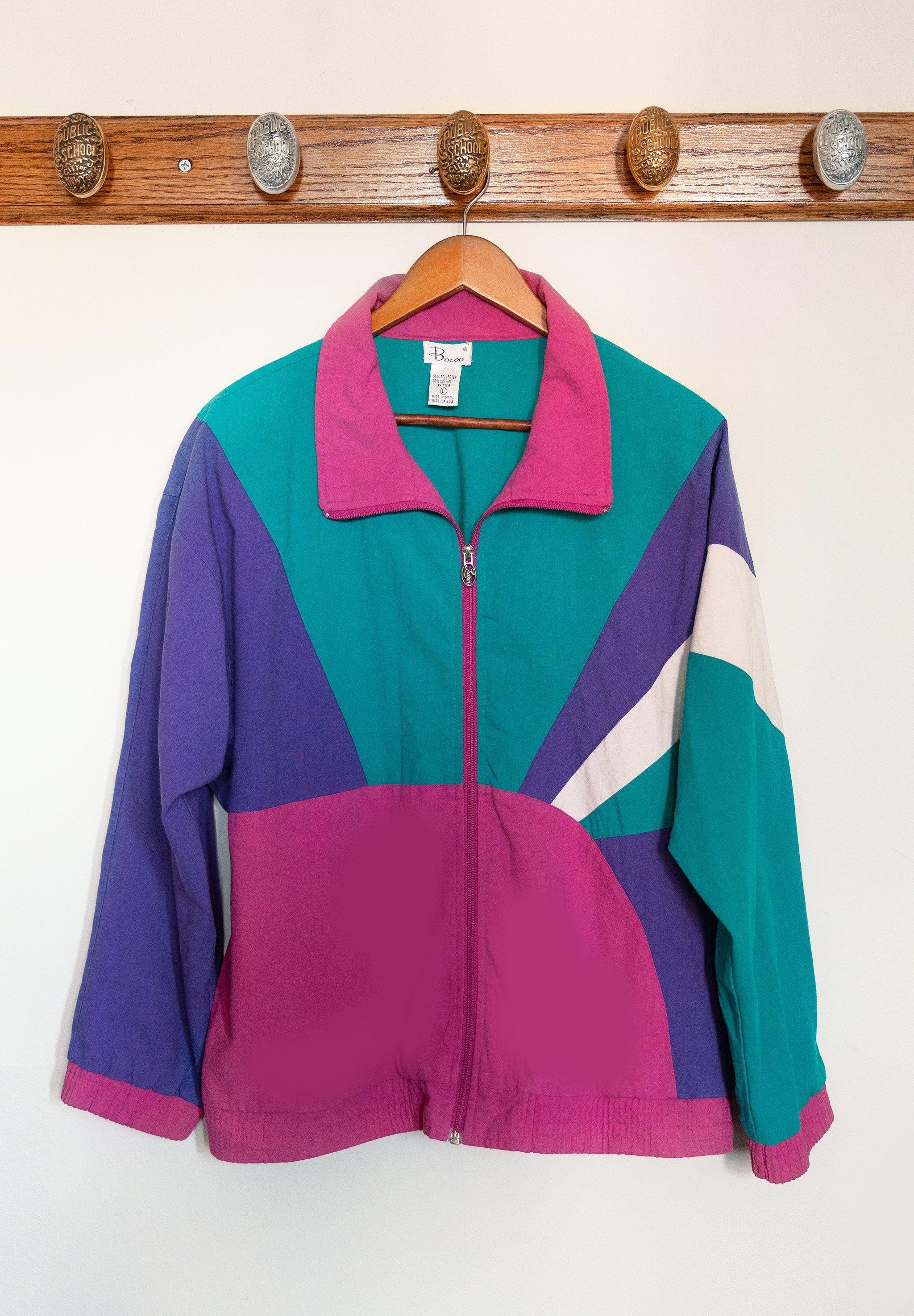 Vintage Color Block Corduroy Jacket Color Block Jacket Jean Jacket Women Vintage Jacket