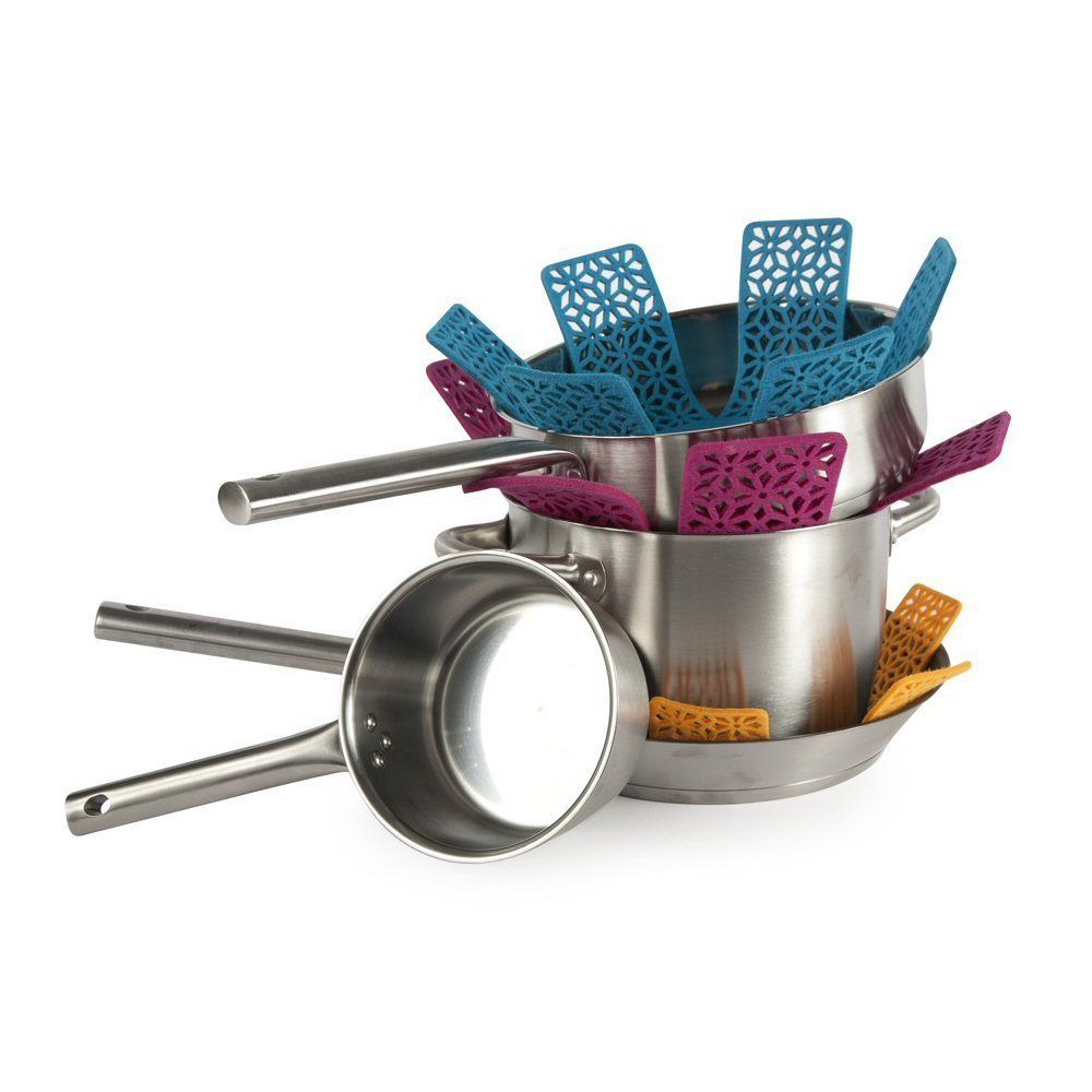 Core Kitchen Terracotta Design 3pc Felt Cookware Protector Set ...