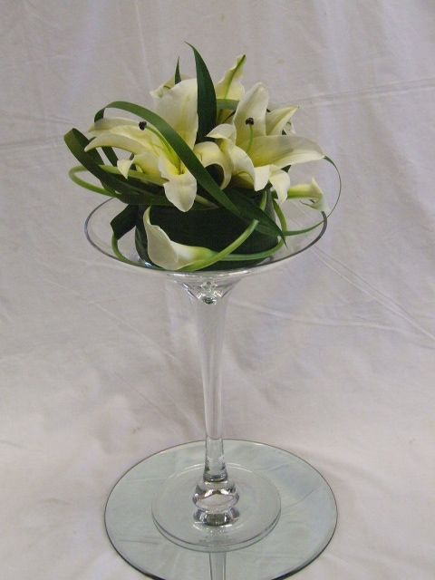 Flowers in a Martini Glass | How to Make a Flower Arrangement in a ...