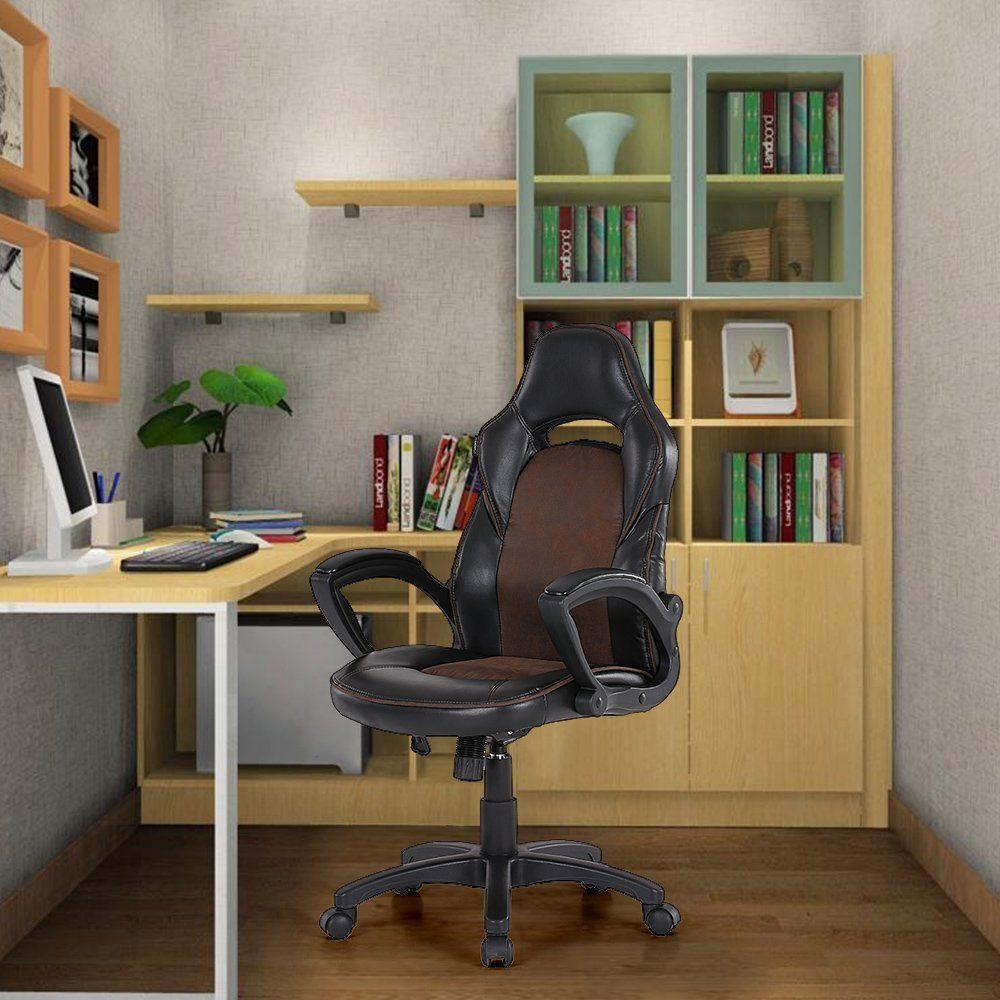 IKAYAA PU Leather Racing Style Executive Office Chair