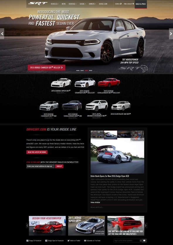 33 dazzling automobile website designs for your imagination
