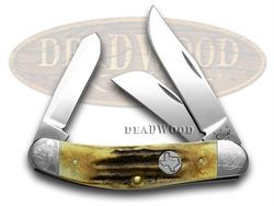 CASE XX Genuine Deer Stag Texas Shield and Bolster 1/125 Sowbelly Pocket Knife - CA92385 SOWELLY | 92385 - 021205923857