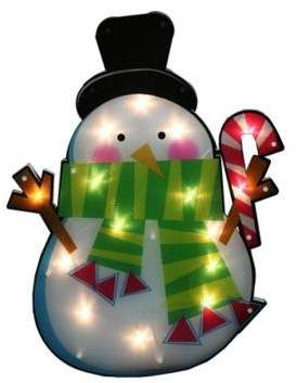 bed bath beyond northlight 15 lighted snowman window silhouette christmas decoration in white