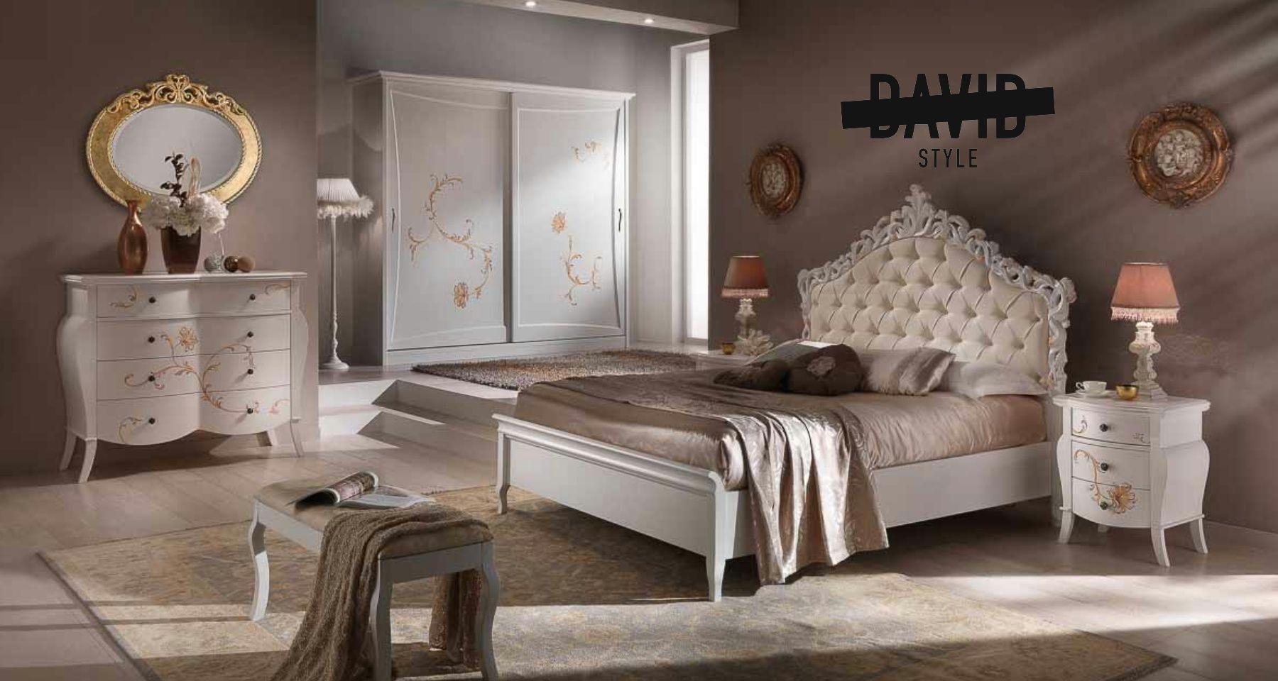 White baroque bedroom Camera barocco bianca