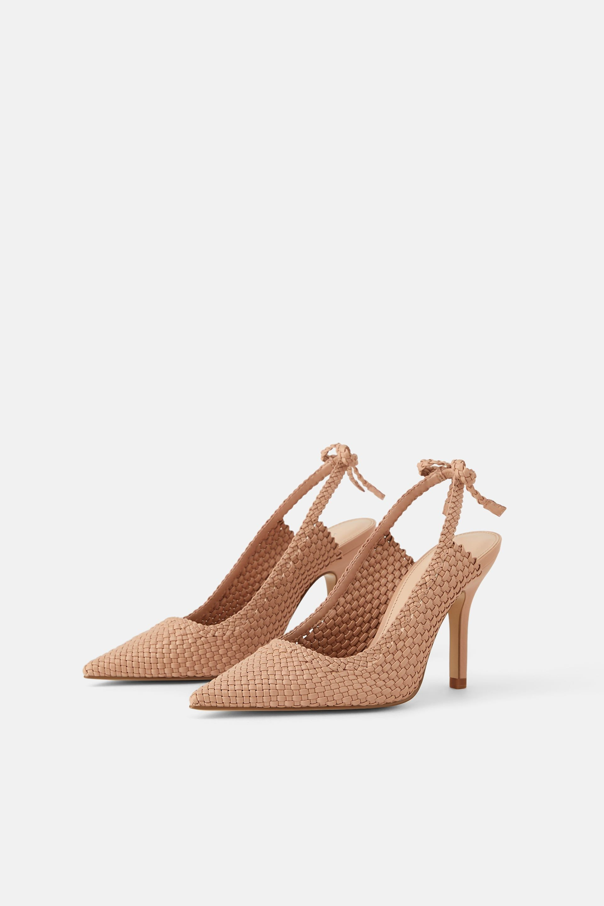 01975a524cd Woven slingback heels with ties in 2019 | clothing | Heels ...