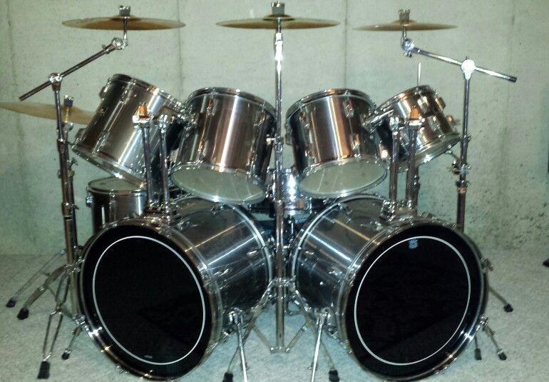 vintage 9 piece pearl exports pearl drums in 2019 pearl drums drum kits drums. Black Bedroom Furniture Sets. Home Design Ideas
