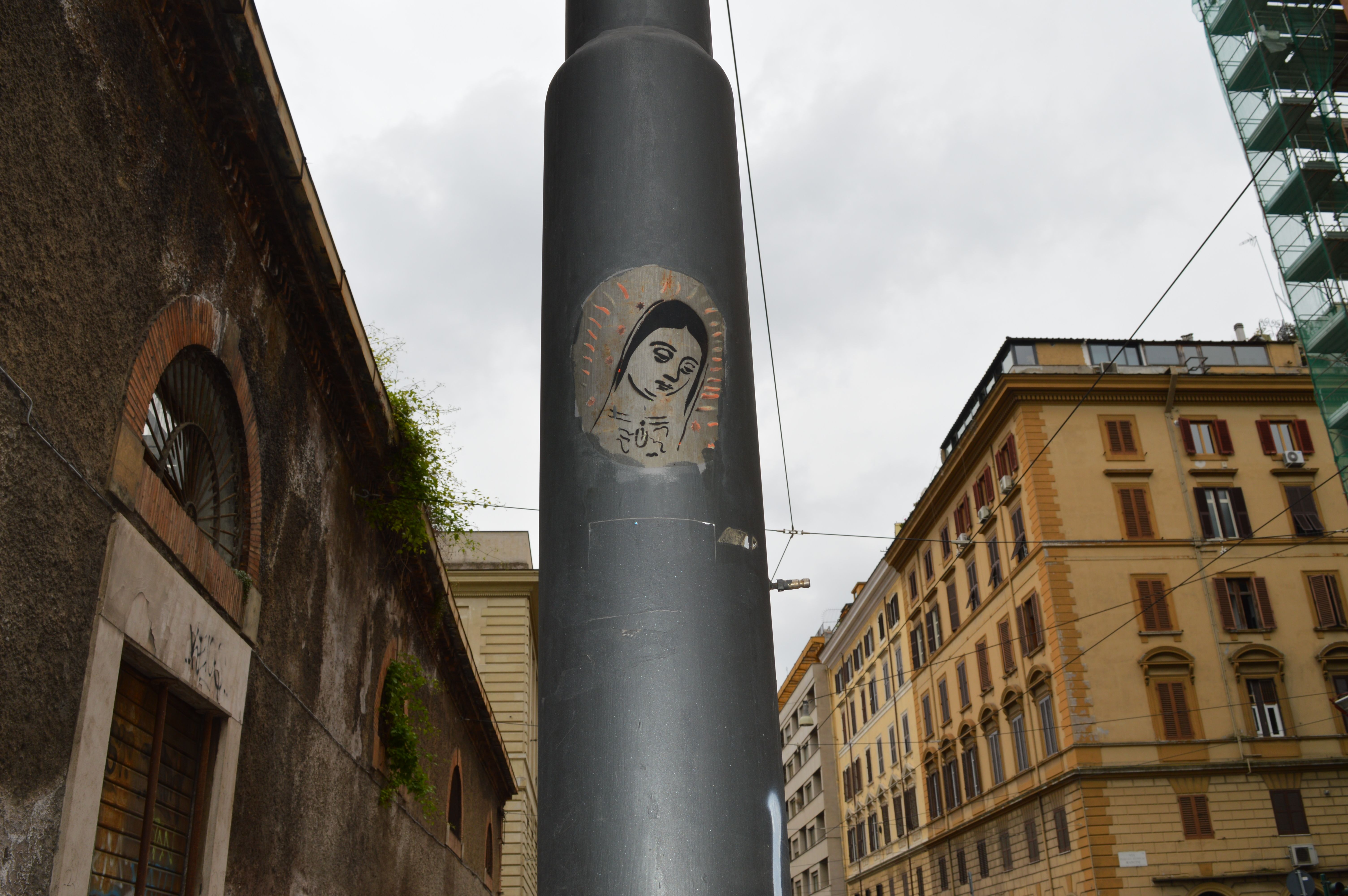 Anonymous Street Art in Rome, Italy
