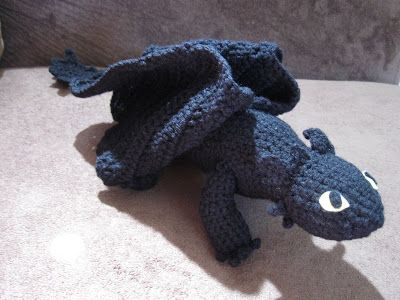Toothless Dragon Amigurumi Pattern : Mostly nerdy crochet crochet toothless ii crochet amigurumi