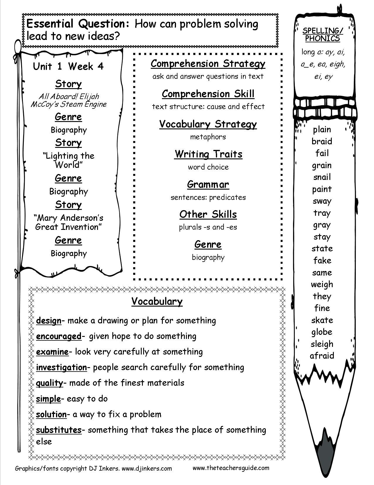 Wonders Activities 3rd Grade