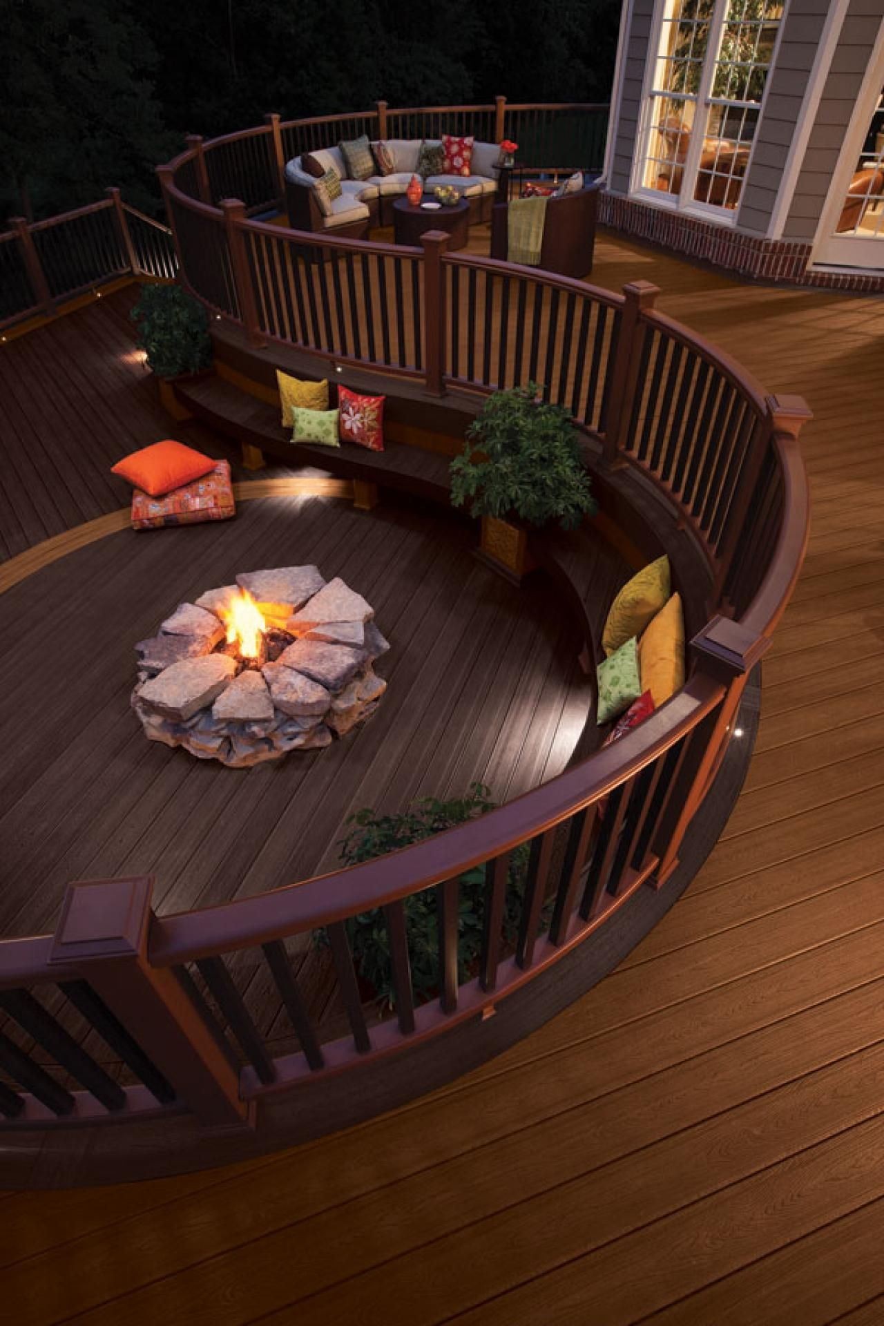 in this picture it s called a freestanding fireplace on best large backyard ideas with attractive fire pit on a budget id=11718