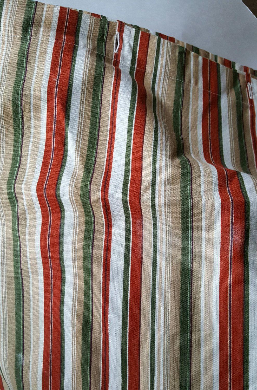 Eddie bauer shower curtain striped fabric green