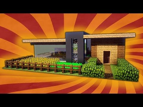 kleines und einfaches modernes haus in minecraft leichtes haus bauen minecraft youtube. Black Bedroom Furniture Sets. Home Design Ideas