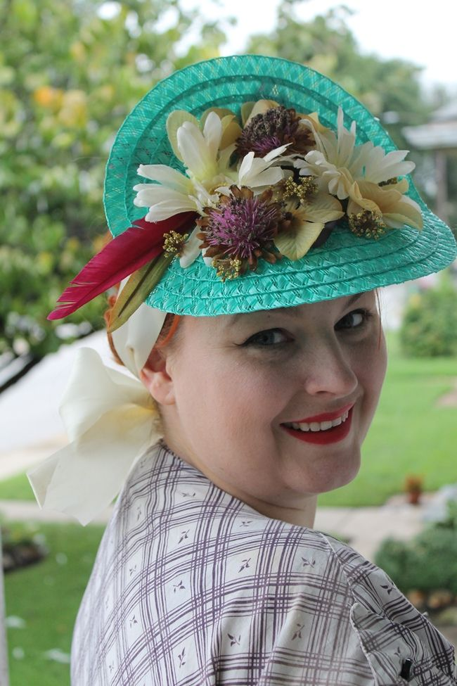 how to make a 1940s straw tilt hat from a place mat e810ff1482f