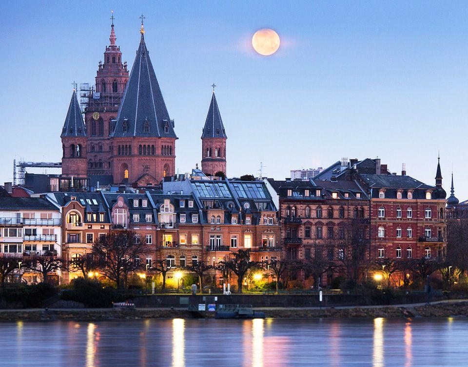 Blick Auf Das Historische Mainz Mainz Magonza Mayence