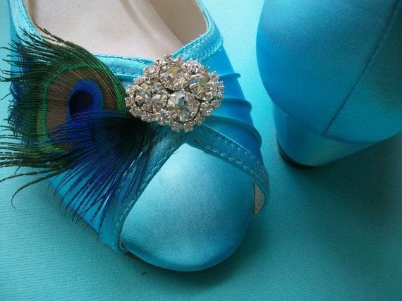 turquoise wedding shoes wedge peacock wedge shoes by parisxox 15600
